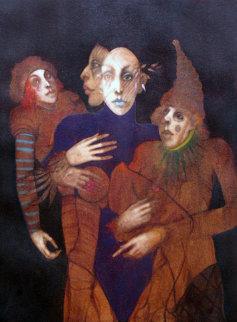 Multi-facet 1974 40x34 Original Painting - Ramon Santiago