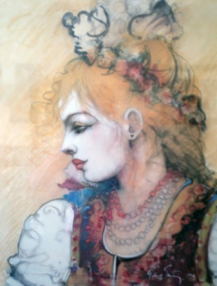 Flower Child AP 1998 Limited Edition Print by Ramon Santiago