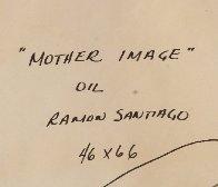 Mother Image 66x46 Super Huge Original Painting by Ramon Santiago - 3