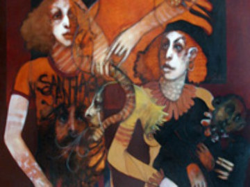 Mother Image 66x46 Original Painting by Ramon Santiago