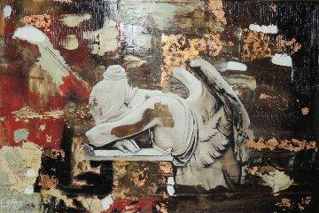 Angel Sculptor 2014 50x74 Original Painting - Christopher Ramsey Jr.