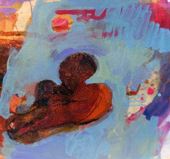 Untitled Painting 1994 21x21 Original Painting - Erika Ranee