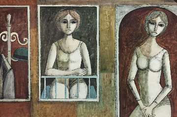 Looking Out 1976 29x41 Original Painting by Lucio Ranucci