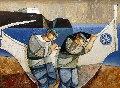 Untitled Painting 1983 35x45 Original Painting - Lucio Ranucci