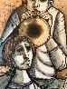 Untitled Portrait of Musicians Watercolor  1969 32x19  Watercolor by Lucio Ranucci - 2