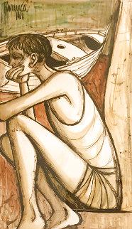 Untitled Watercolor 1968 27x18 Watercolor - Lucio Ranucci