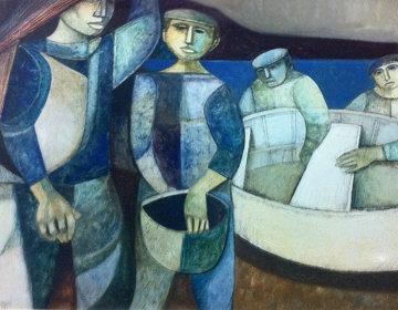 Povera Pesa 1978 39x47 Original Painting - Lucio Ranucci