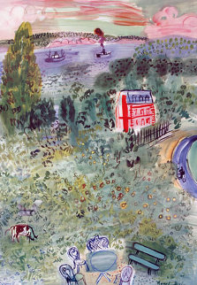 Normandie, Vintage Travel Poster 1950 Limited Edition Print - Raoul Dufy