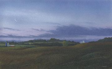 Autumn Twilight Watercolor 1993 16x26 Watercolor - Peter Rashford