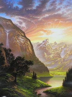 Valley of Dreams 2017 55x43  Huge Original Painting - Jon Rattenbury