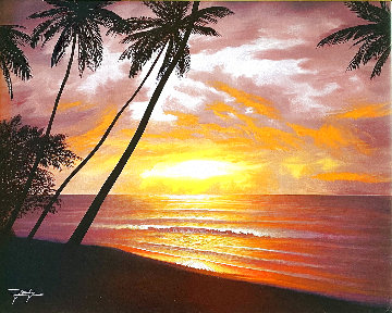Sea of Paradise 2012 26x30 Original Painting - Jon Rattenbury