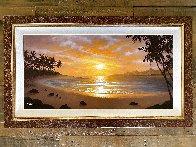Silhouettes of Paradise 2012 26x44 Huge Original Painting by Jon Rattenbury - 1