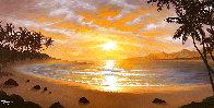 Silhouettes of Paradise 2012 26x44 Huge Original Painting by Jon Rattenbury - 0