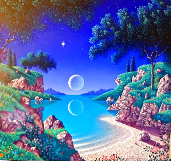 Bay of Dreams 1996 30x35  Original Painting - Jon Rattenbury