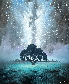 Milky Way Dream 32x28 Original Painting - Jon Rattenbury