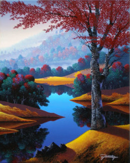 Reflections of Autumn Original Painting - Jon Rattenbury