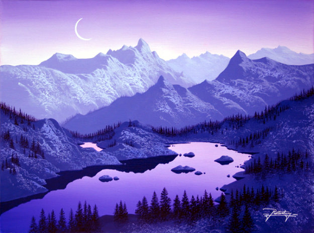 Reflections of Purple 2007 Limited Edition Print by Jon Rattenbury