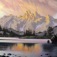Awaiting Twilight 2014 47x47 Super Huge Original Painting by Jon Rattenbury - 2