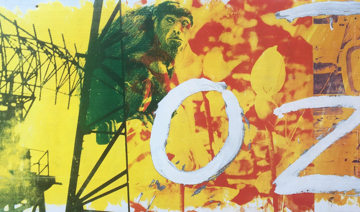 Ozone Bus Billboard 1991 30x144 Other by Robert Rauschenberg