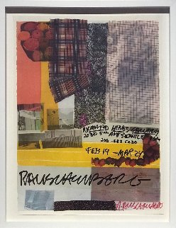 Richard Hines Gallery, Seattle 1979  Limited Edition Print - Robert Rauschenberg