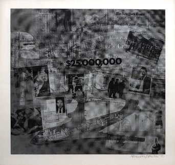 Surface Series From Currents #42 TP 1970 Limited Edition Print by Robert Rauschenberg
