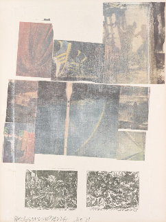 People Have Enough Trouble without Being Intimidated by An Artichoke 1979 Limited Edition Print by Robert Rauschenberg