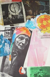 Homage to Frederick Kiesler 1966 Limited Edition Print by Robert Rauschenberg