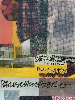 Richard Hines Gallery, Seattle 1997 Limited Edition Print - Robert Rauschenberg