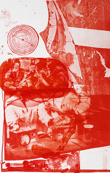 Stoned Moon - Ape 1970 Limited Edition Print by Robert Rauschenberg