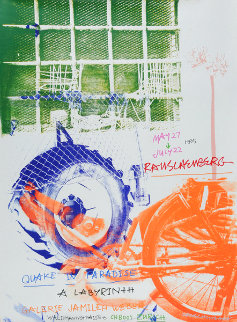 Quake in Paradise 1995 Super Huge Limited Edition Print - Robert Rauschenberg