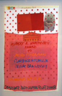 Democratic Party Human Rights Dinner 1981 Limited Edition Print by Robert Rauschenberg