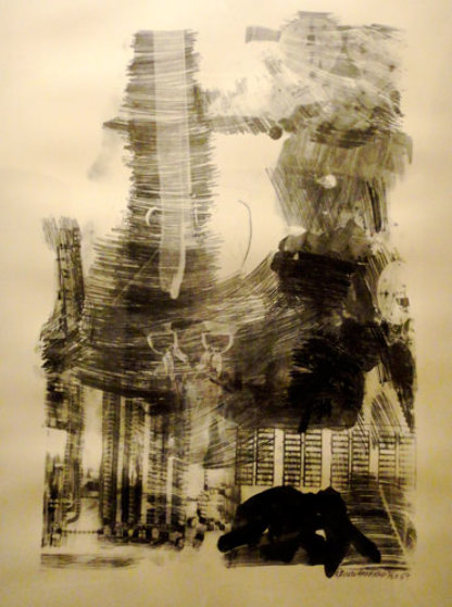 Earth Tie, from Stoned Moon series - 1969 Limited Edition Print by Robert Rauschenberg