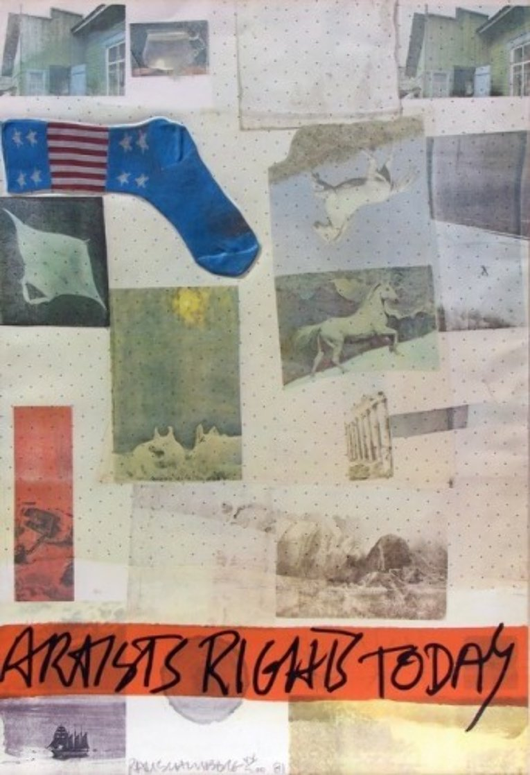 Artist's Right Today 1981 Limited Edition Print by Robert Rauschenberg