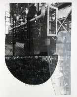 Tracks, From Stoned Moon 1970 44x35 Limited Edition Print by Robert Rauschenberg - 1