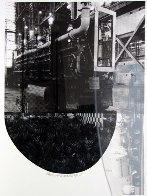 Tracks, From Stoned Moon 1970 44x35 Limited Edition Print by Robert Rauschenberg - 0