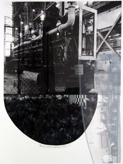 Tracks, From Stoned Moon 1970 44x35 Huge Limited Edition Print - Robert Rauschenberg