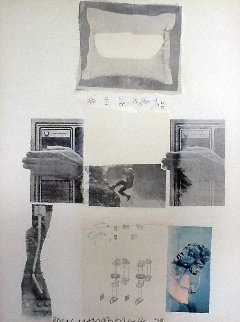 Untitled Lithograph PP 1979 Limited Edition Print by Robert Rauschenberg