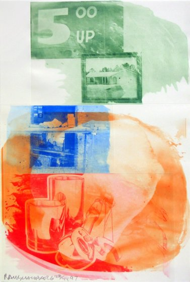 Collateral, From Ground Rules 1997  Limited Edition Print by Robert Rauschenberg