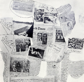 Features From Currents, #74 1970 Limited Edition Print - Robert Rauschenberg