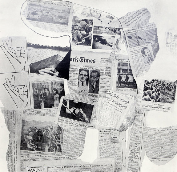 Features From Currents, #74 1970 Limited Edition Print by Robert Rauschenberg