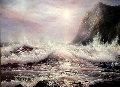 Sea Rose 1991 43x38 Original Painting - Raymond Page