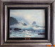 Seascape 1970 26x30 Original Painting by Raymond Page - 1