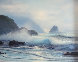 Seascape 1970 26x30 Original Painting by Raymond Page - 0