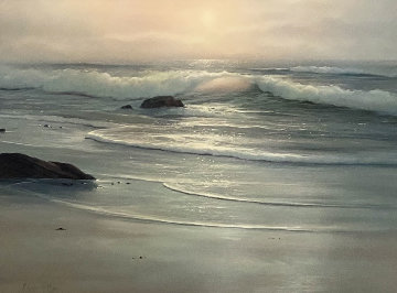 Untitled Seascape 29x36 Original Painting - Raymond Page