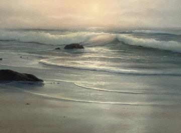 Untitled Seascape 29x36 Original Painting - Raymond Page