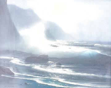 Moonlight Ocean 1970 26x30 Original Painting - Raymond Page