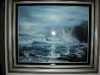 Azure Ocean 1988 32x39 Original Painting by Raymond Page - 1