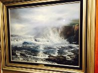 Azure Ocean 1988 32x39 Original Painting by Raymond Page - 5