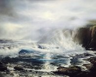 Azure Ocean 1988 32x39 Original Painting by Raymond Page - 0
