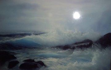 Seascape 43x46 Original Painting - Raymond Page